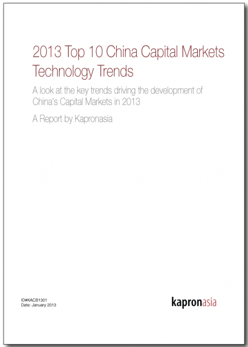 Top 10 China Capital Markets Technology Trends 2013